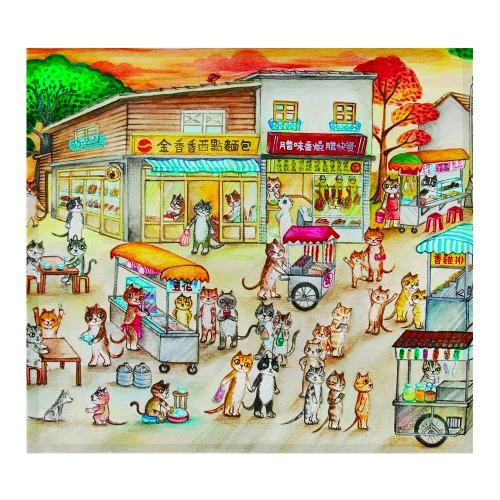 夏日黃昏 - FishCat〔BYC印花萬用布〕