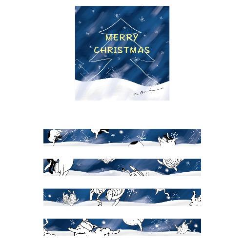 紙膠帶-記憶中的christmas(藍色世界)