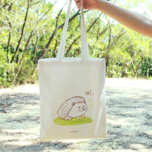 【動物系列】#1 忙碌的刺蝟 帆布袋