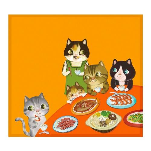 晚餐的喜悅 - FishCat〔BYC印花萬用布〕