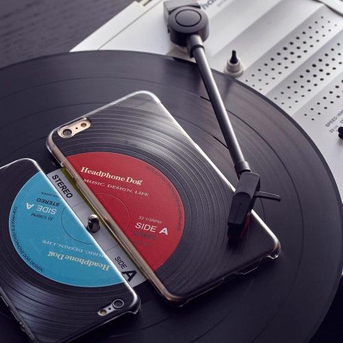 黑膠立體紋路手機殼-經典紅/藍