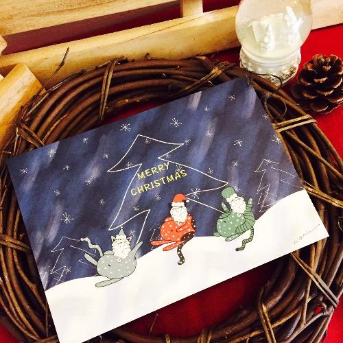 記憶中的christmas明信片(聖誕貓貓)