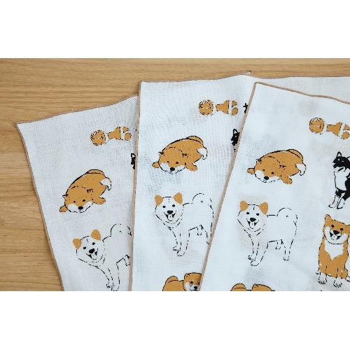 小飯糰 第二代 柴柴團圓飯 手工絹印手拭巾