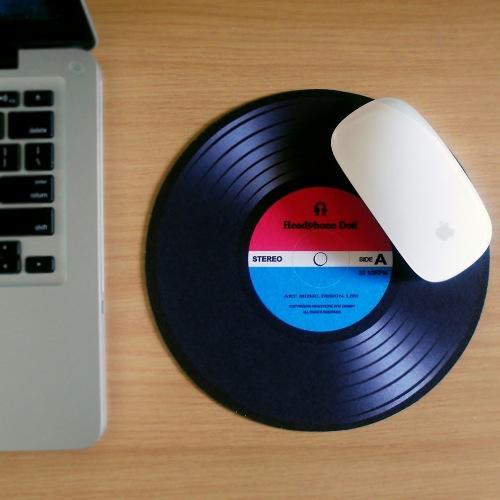 DJ黑膠唱片造型 薄型滑鼠墊 鼠標墊 MousePad