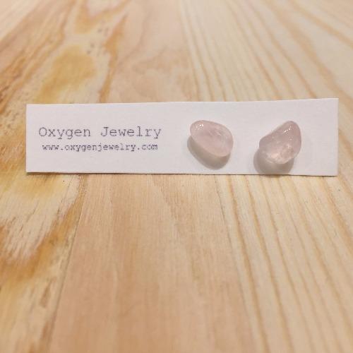 ~生日石系列~ 七月 {粉水晶} ~ 防金屬敏感耳環