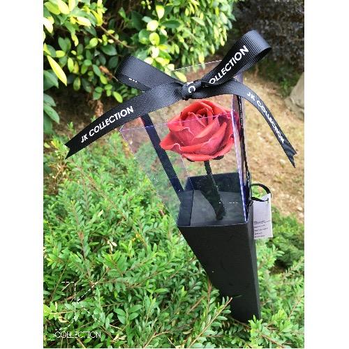皮革薔薇單枝禮盒