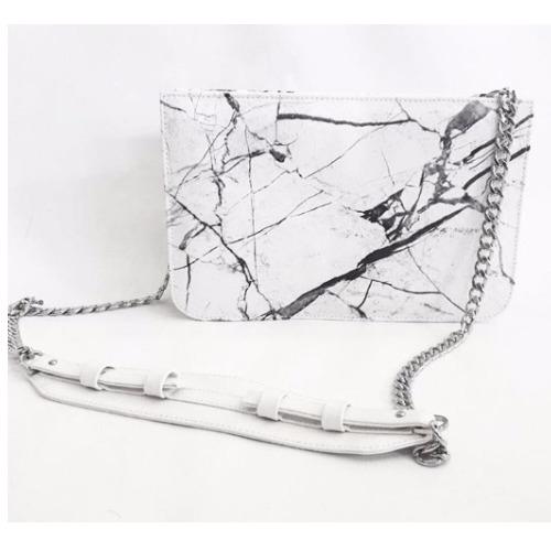 White Rectangular marble bag