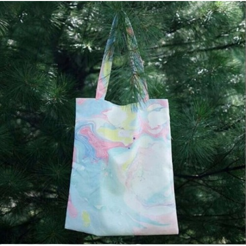 Candy marble canvas bag