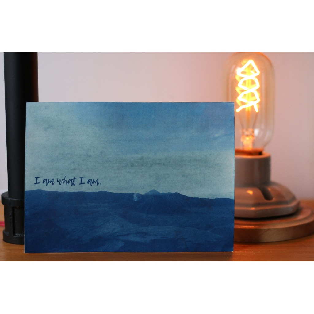 藍曬 旅遊風景 明信片 Bromo火山 可訂制