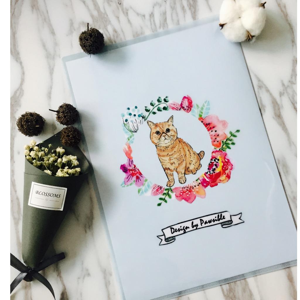 A4花圈貓貓文件夾