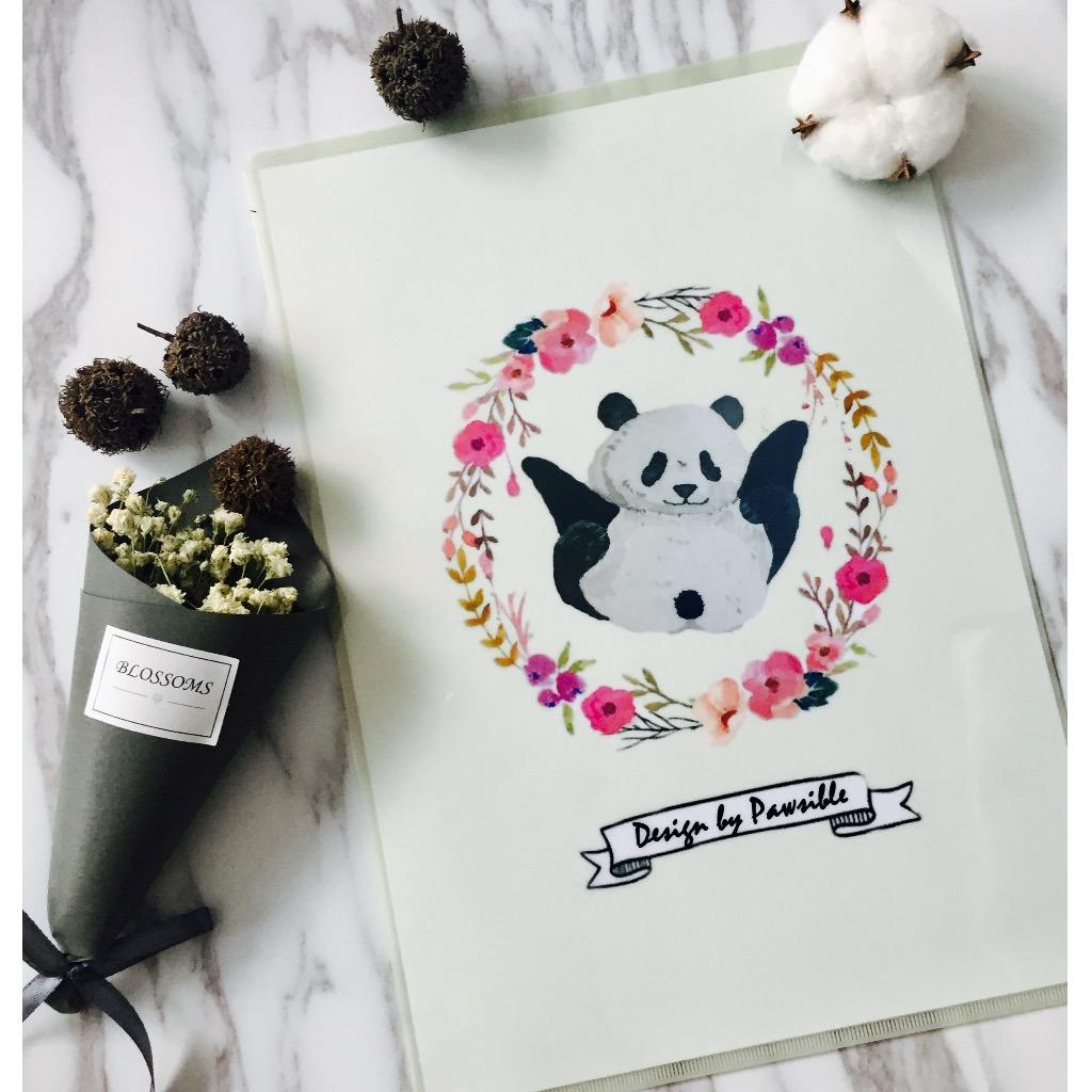 A4花圈熊貓文件夾