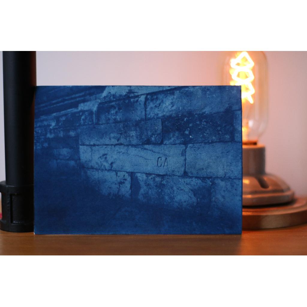 藍曬 旅遊風景 明信片 吳哥磚頭 可訂制