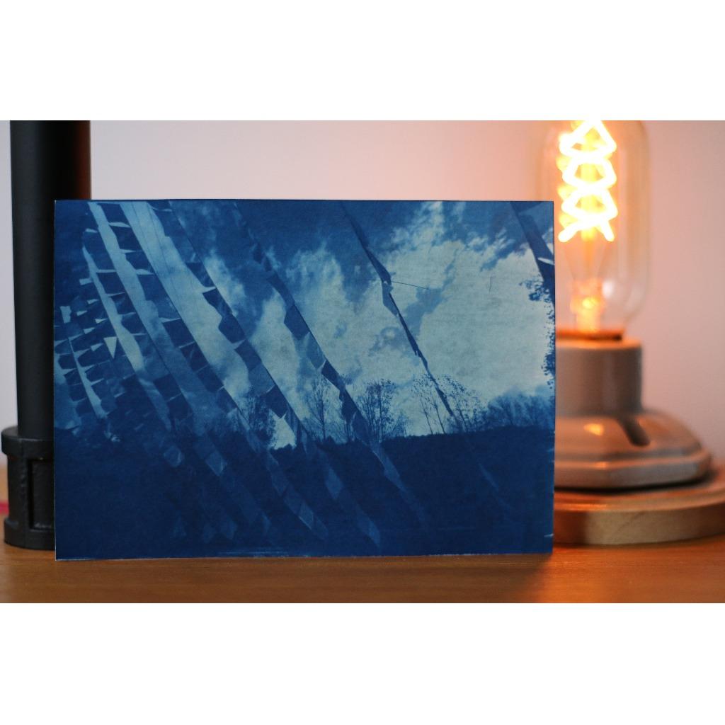 藍曬 旅遊風景 明信片 瀘沽湖藏旗 可訂制