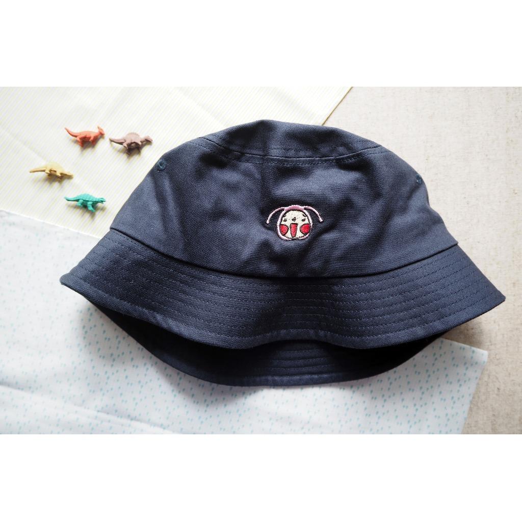 呵呵刺繡漁夫帽(深藍色)