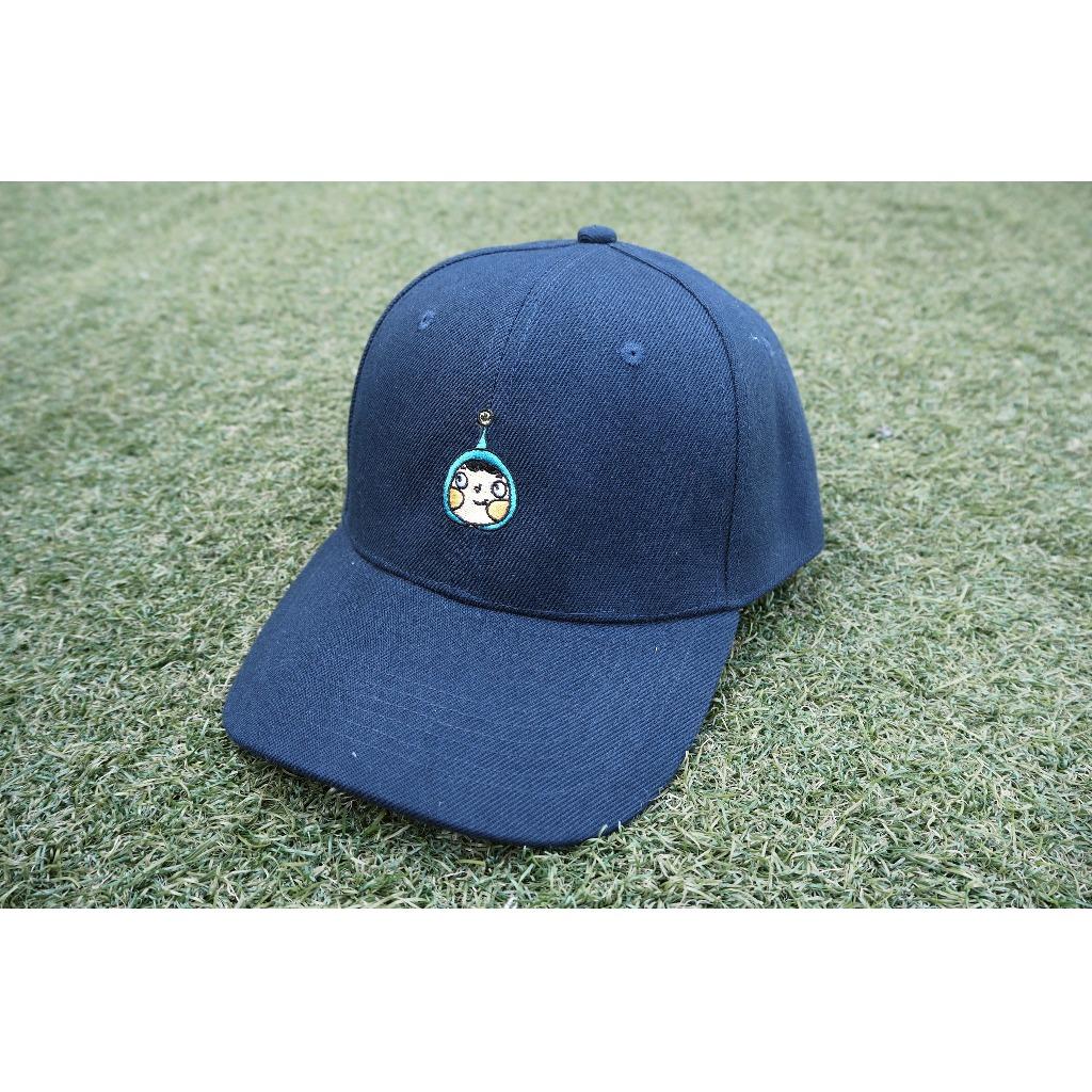 藍呵刺繡棒球帽(深藍色)