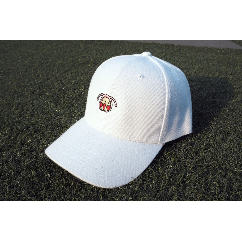 呵呵刺繡棒球帽(白色)