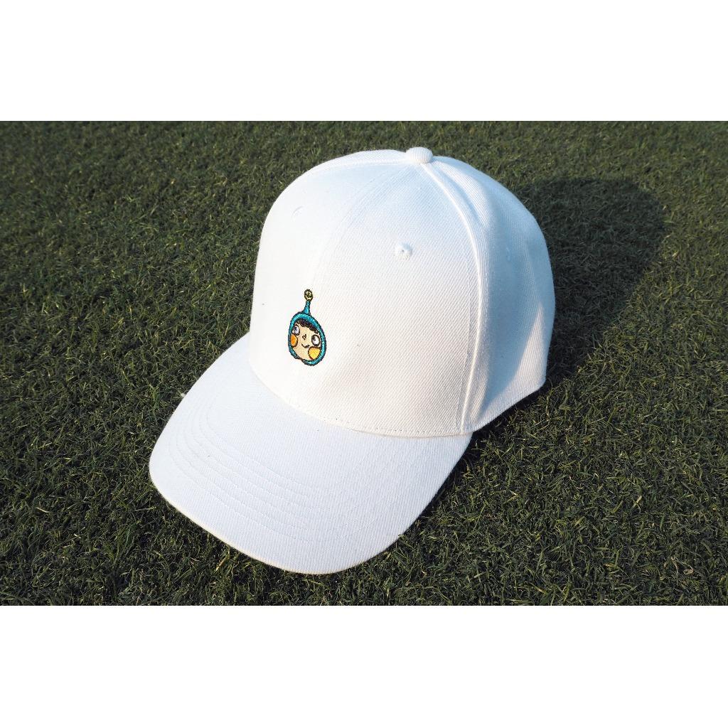 藍呵刺繡棒球帽(白色)