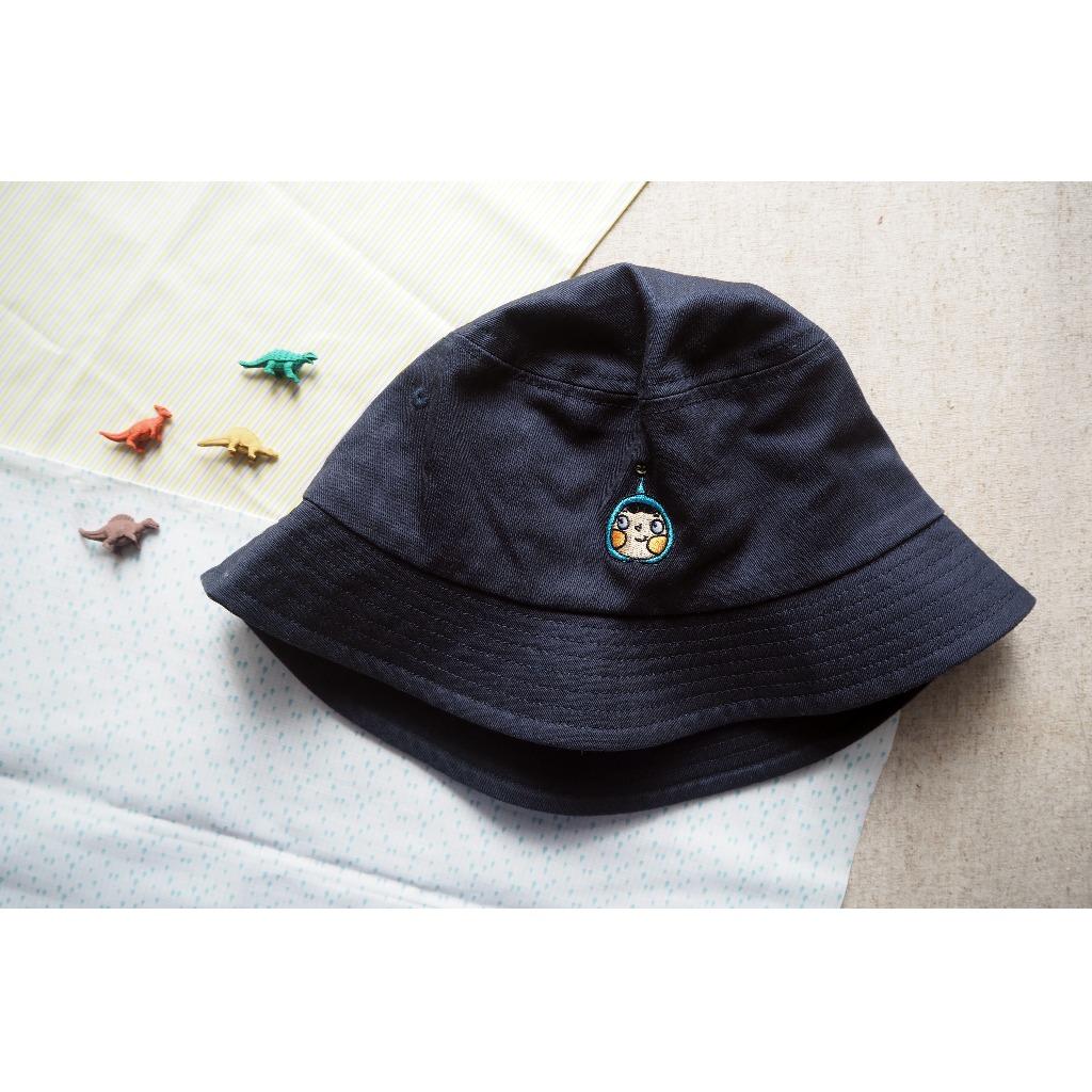 藍呵刺繡漁夫帽(深藍色)