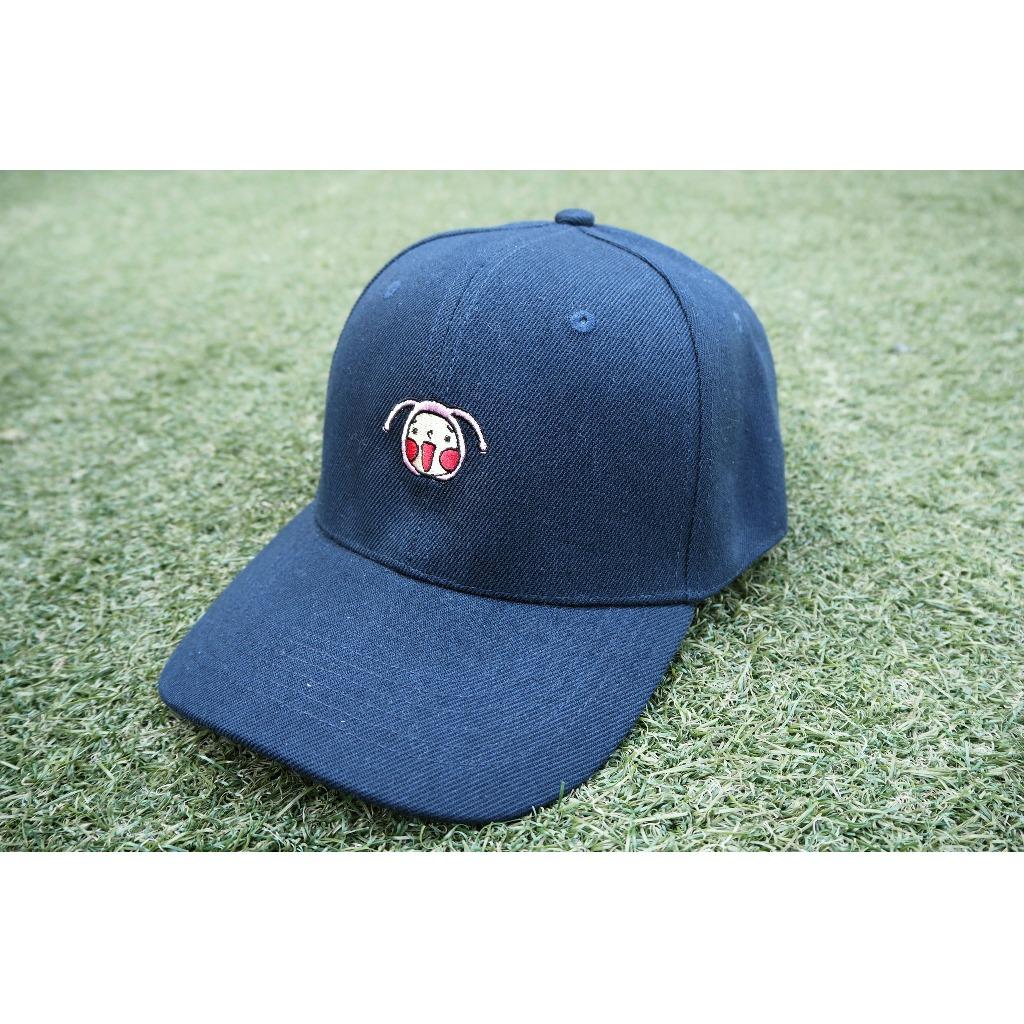 呵呵刺繡棒球帽(深藍色)