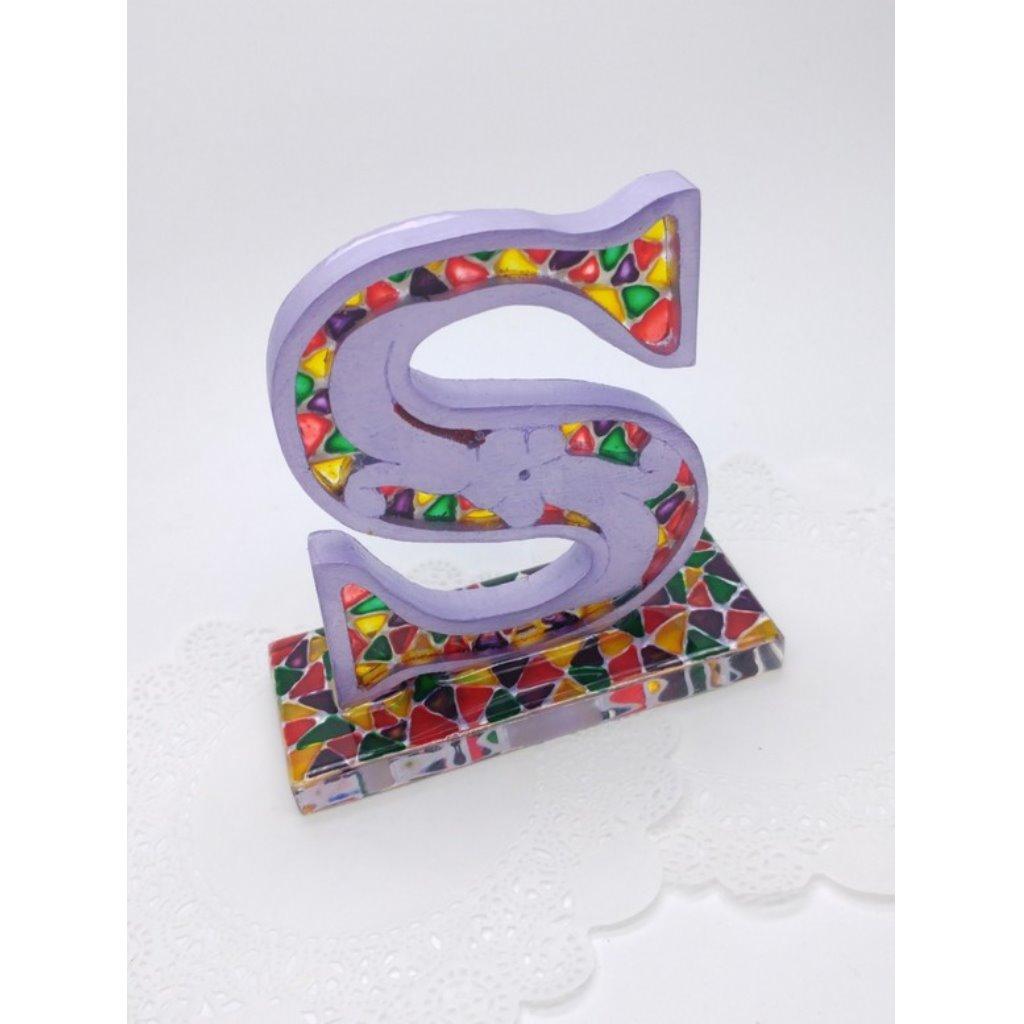 彩繪字母擺設 - S字