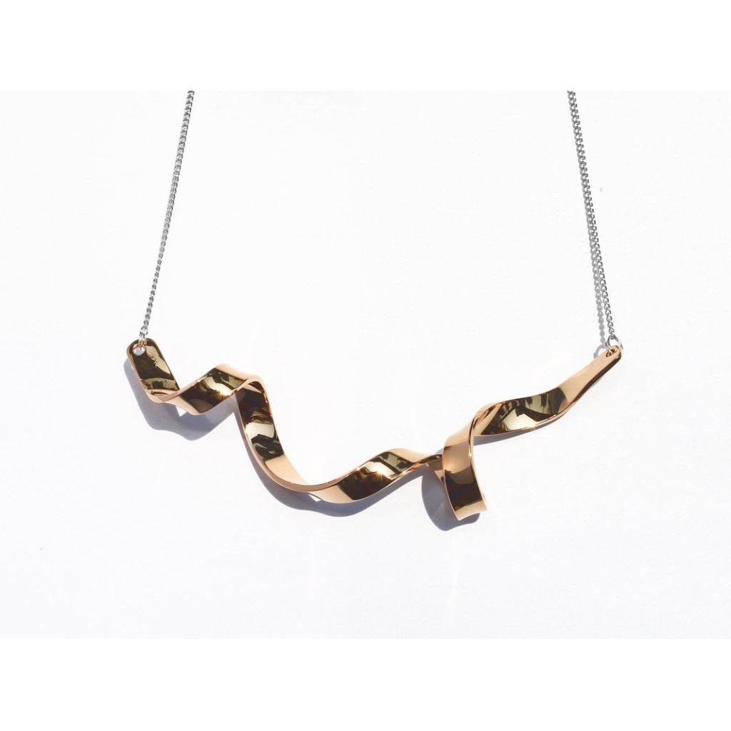 扭紋絲帶項鍊 | 18K玫瑰金