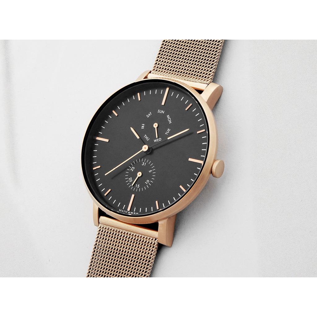 玫瑰金 MG002 手錶 | 鋼帶