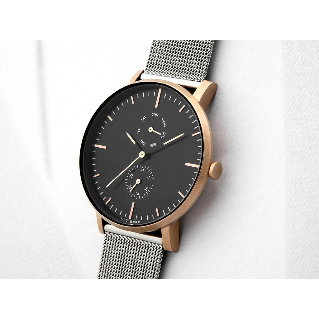 Two-Tone 銀 x 玫瑰金 MG002 手錶 | 鋼帶
