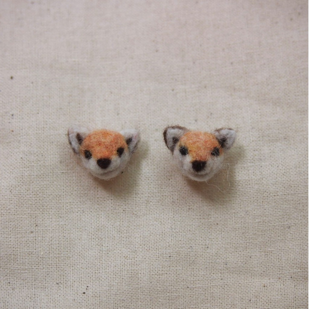 小赤狐 耳環