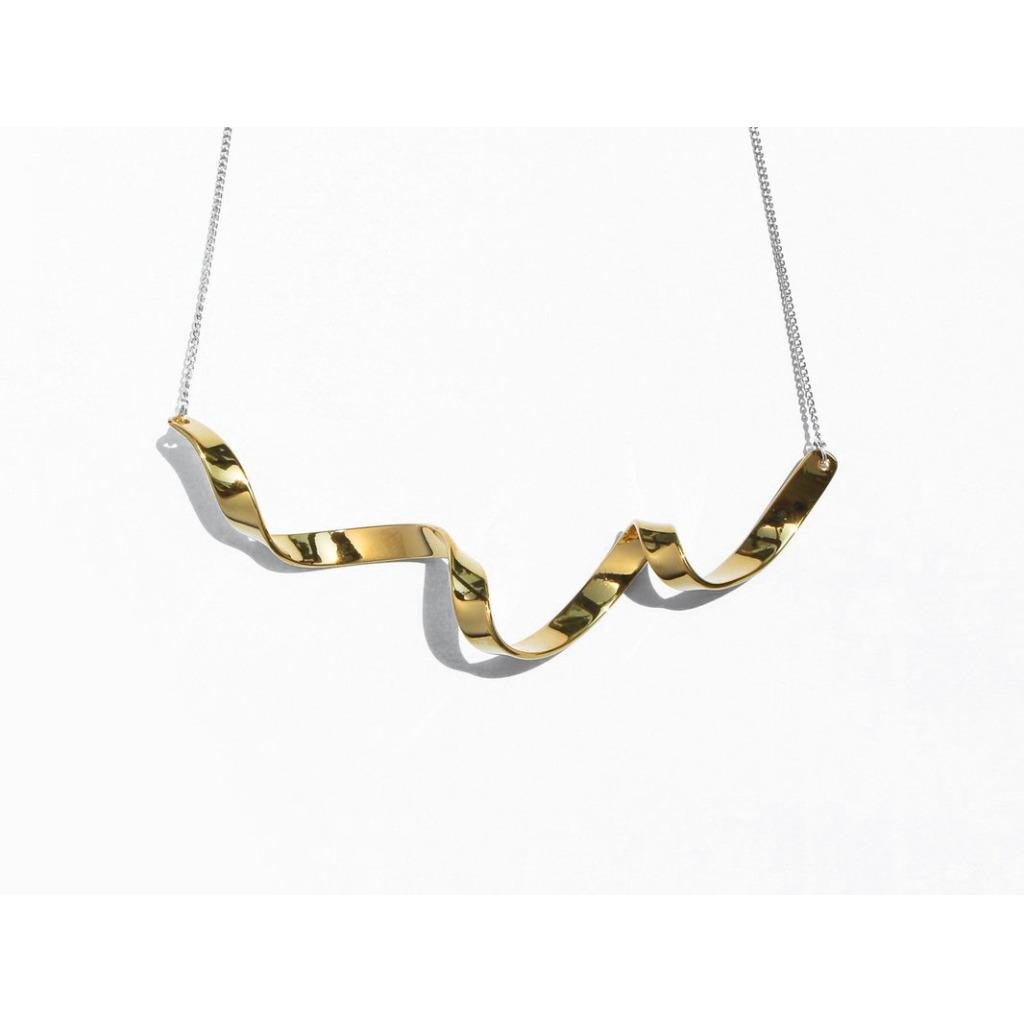 扭紋絲帶項鍊 | 24K金