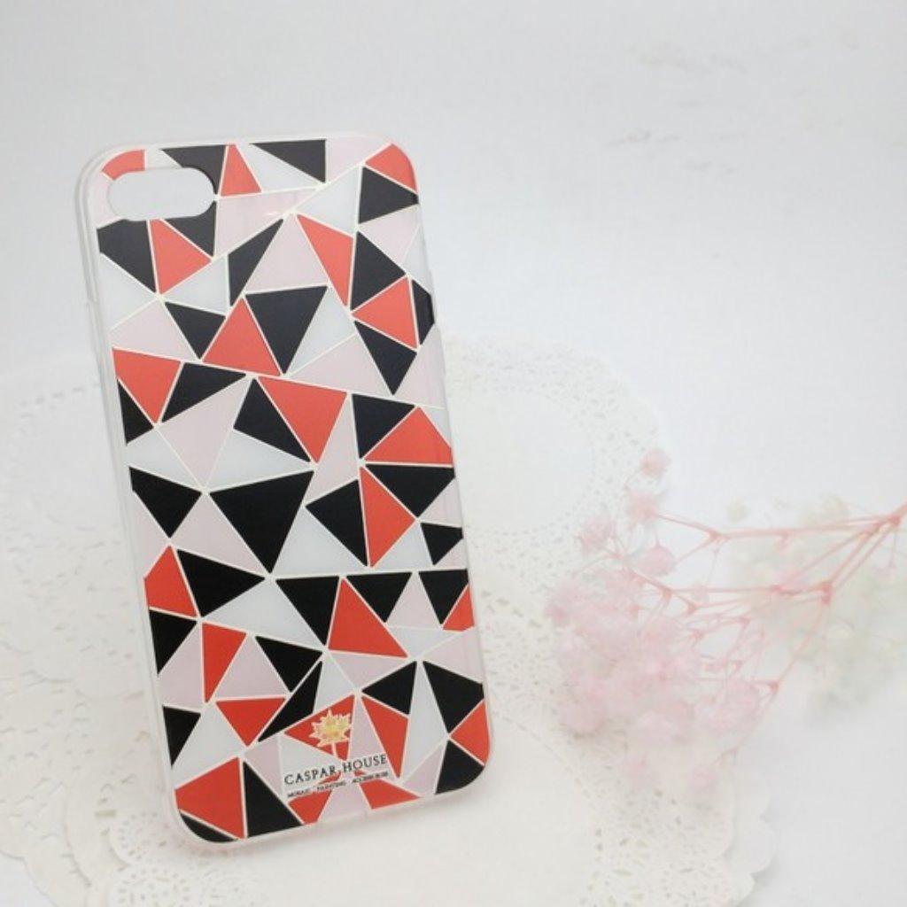 馬賽克手機殼 iPhone 7 plus (紅黑)
