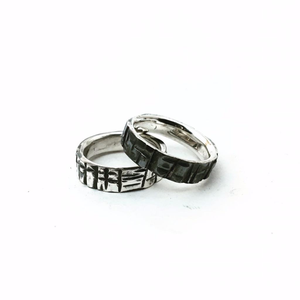 羅馬石板意象/純銀/戒指