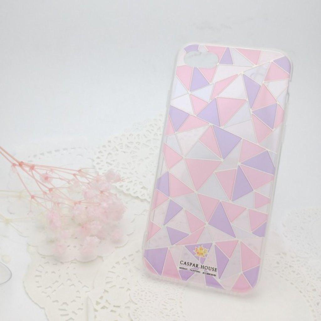 馬賽克手機殼 iPhone 7 plus - 粉色
