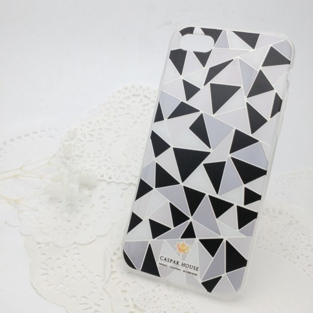 馬賽克手機殼 iPhone 7 plus (黑白)