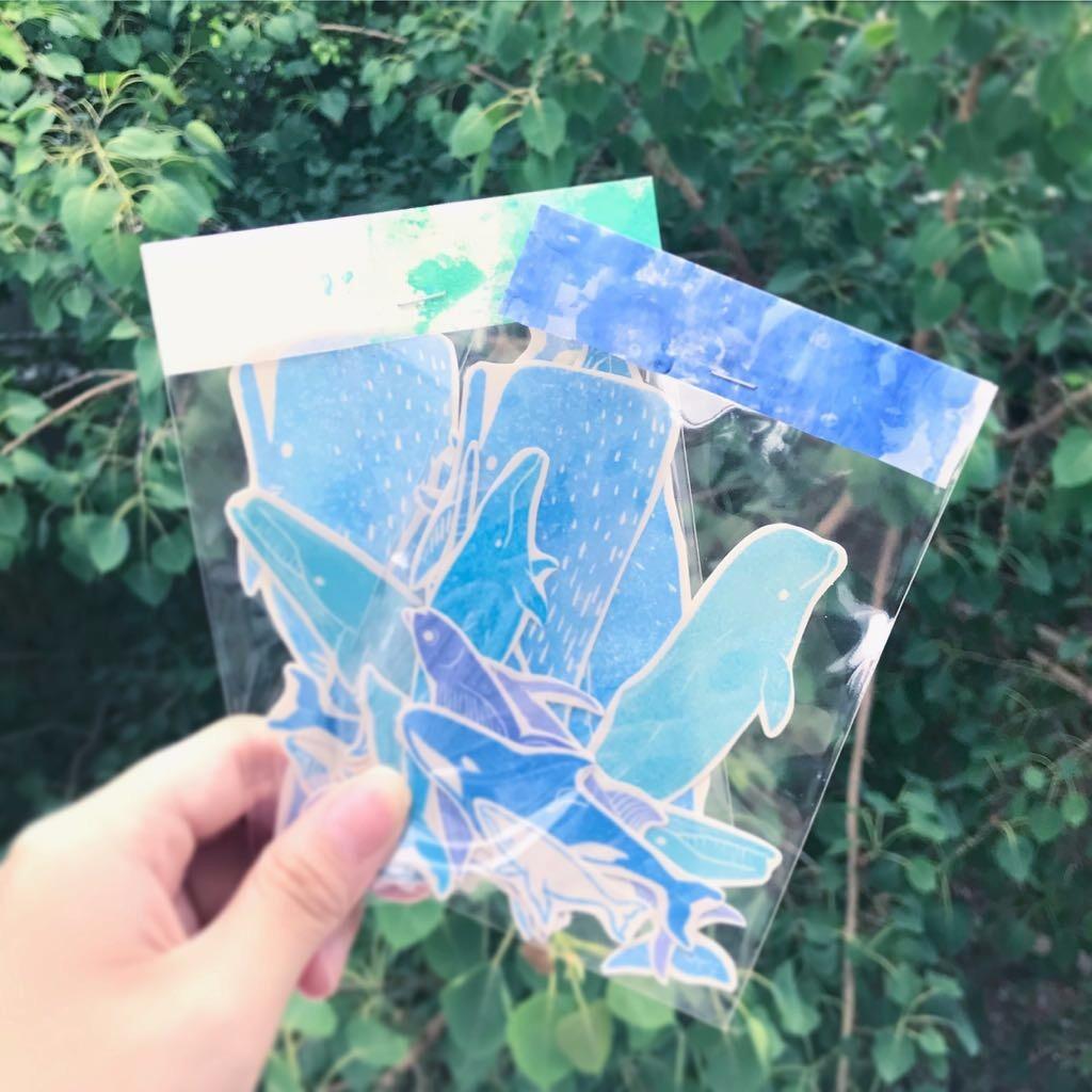 海生物透明貼紙組 全12種