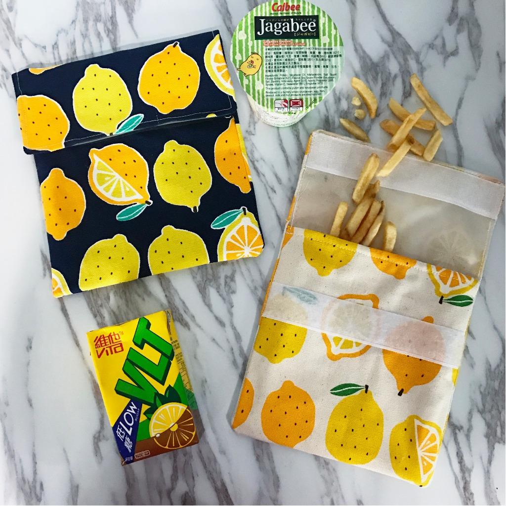 環保麵包食物袋 - 檸檬