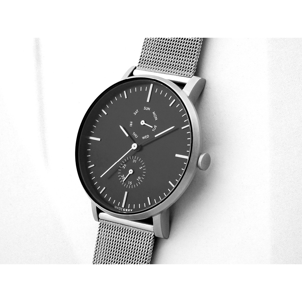 銀色 MG002 手錶 | 鋼帶