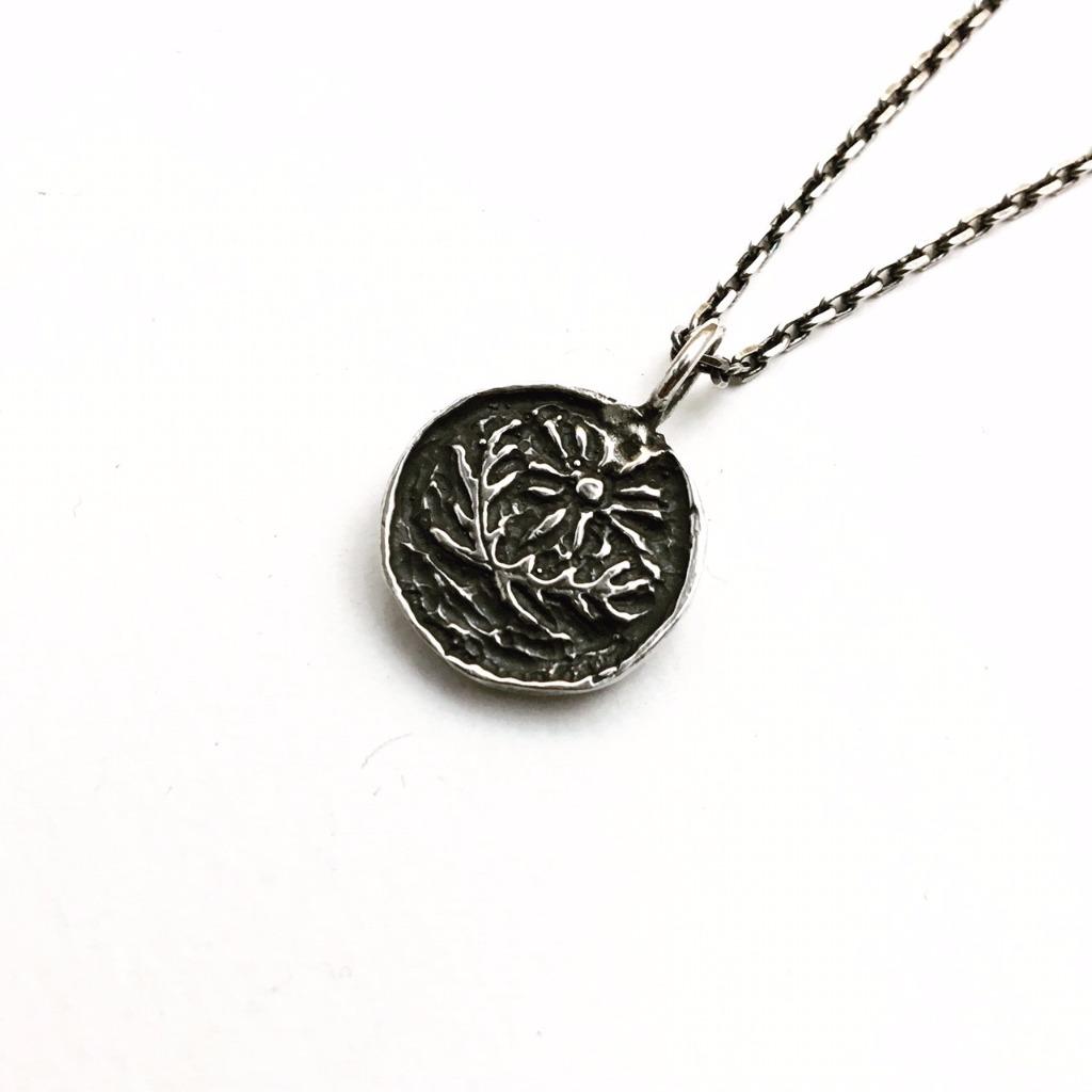 古錢幣印象-太陽與勇氣/純銀項鍊