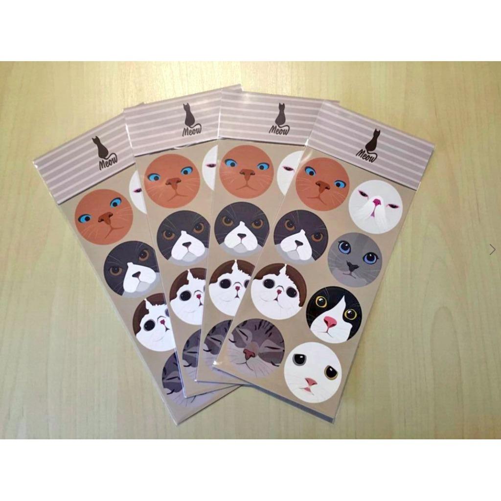原創設計貓咪貼紙-Meow星人貼紙3入