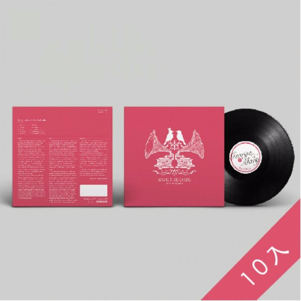 黑膠婚卡 (10入) 1:1真實黑膠的創意婚卡