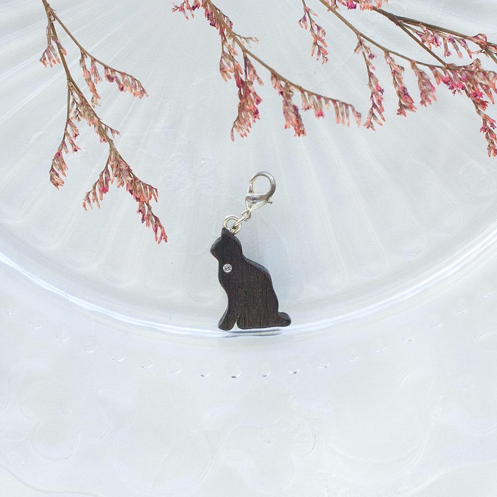 【Honeywood】木製吊飾 》》貓