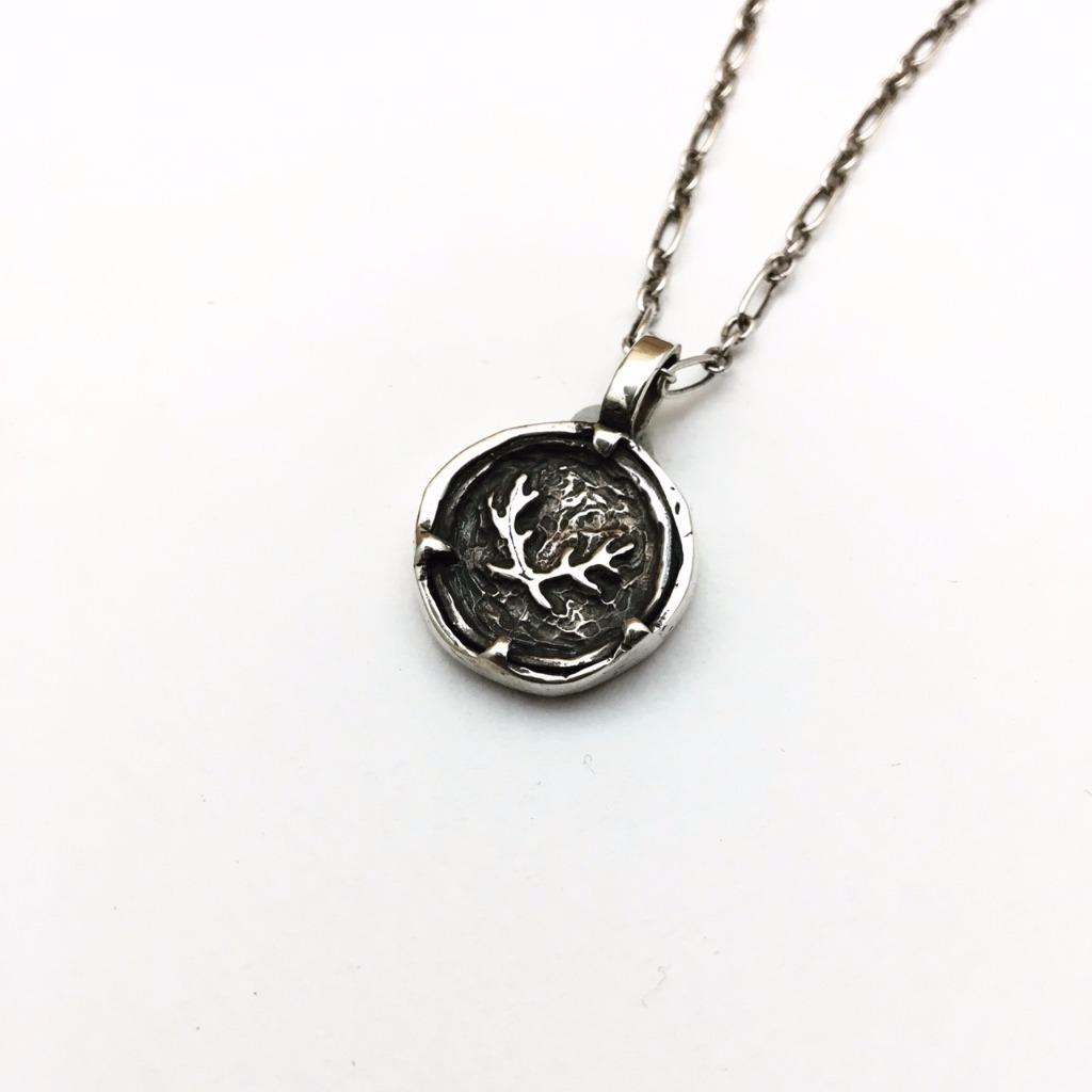 經典款-桂冠鹿角Logo/項鍊/純銀 (大)