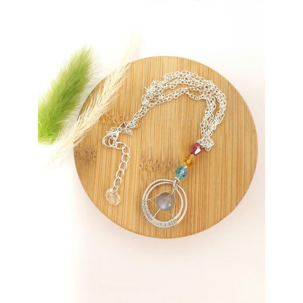 K'S手作設計 天然月光石招緣項鍊 可訂製