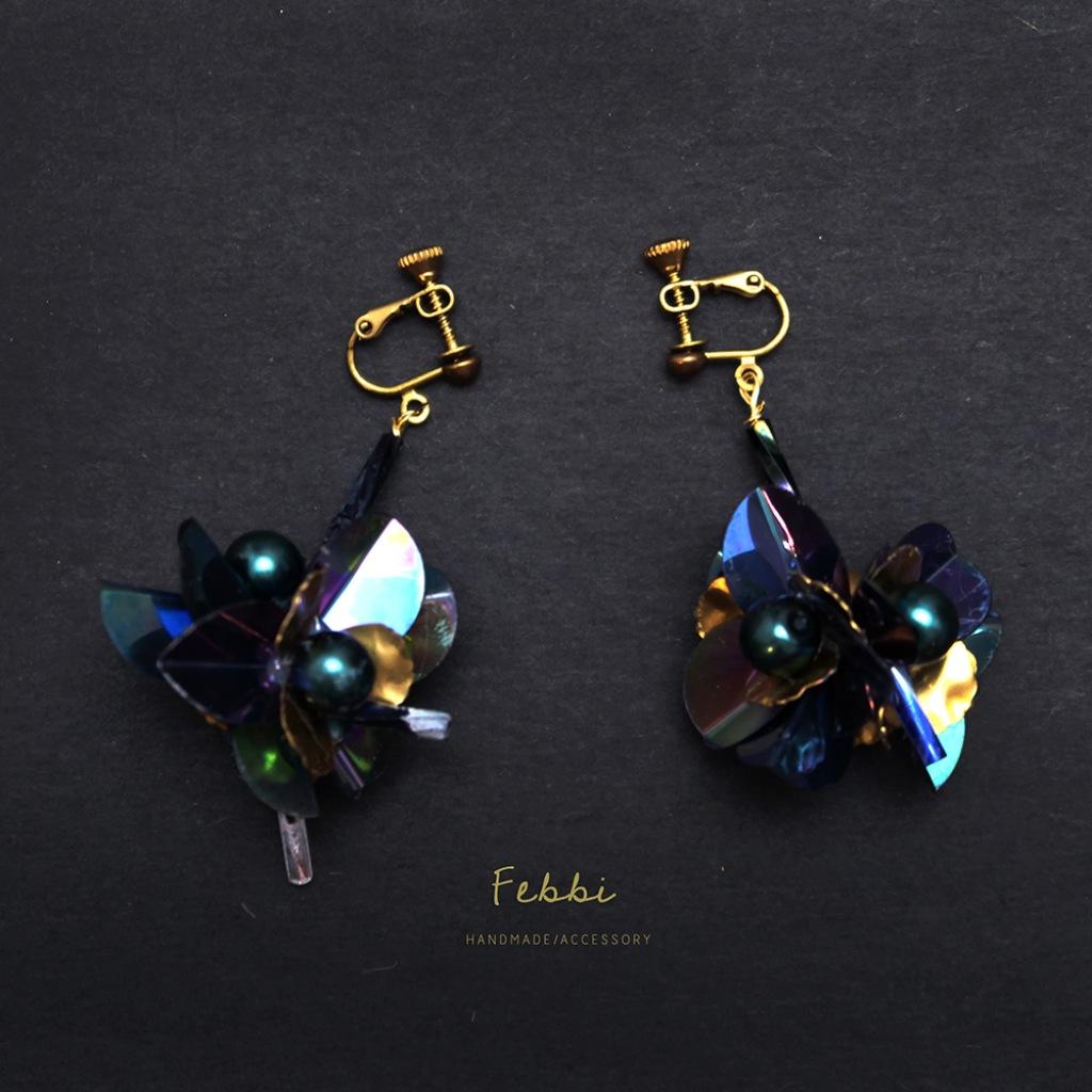 Febbi煙花球型耳環