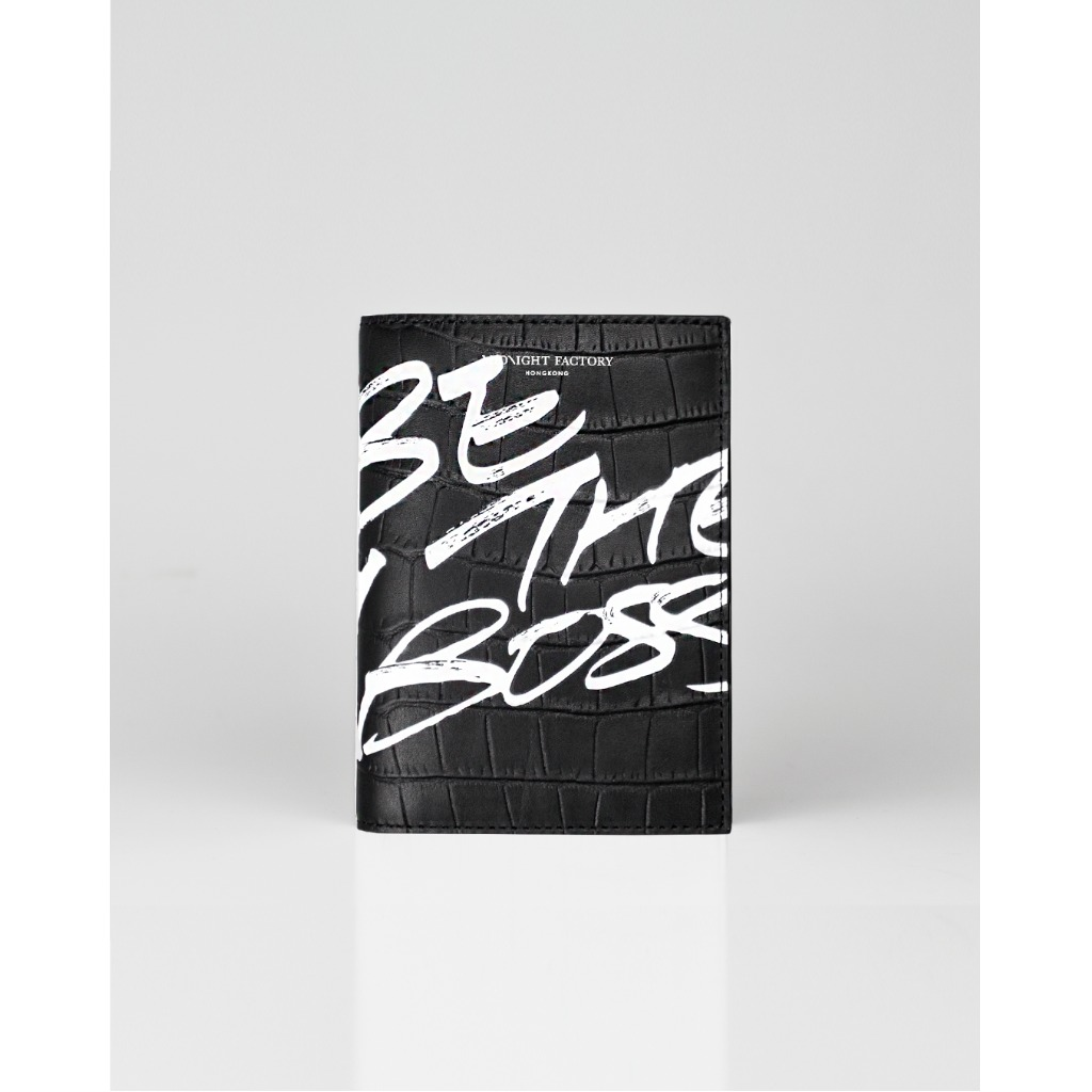 「Be The Boss」鱷魚紋護照夾