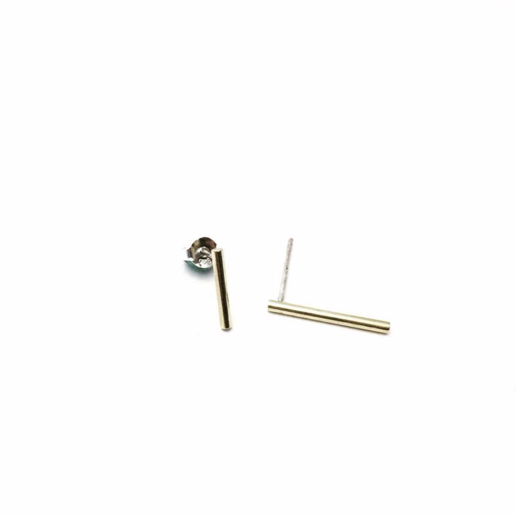 簡約式黃銅耳環/brass earring