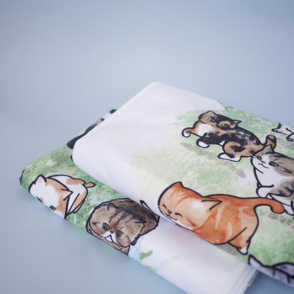 胖貓圖 Galloping Cat 長毛巾