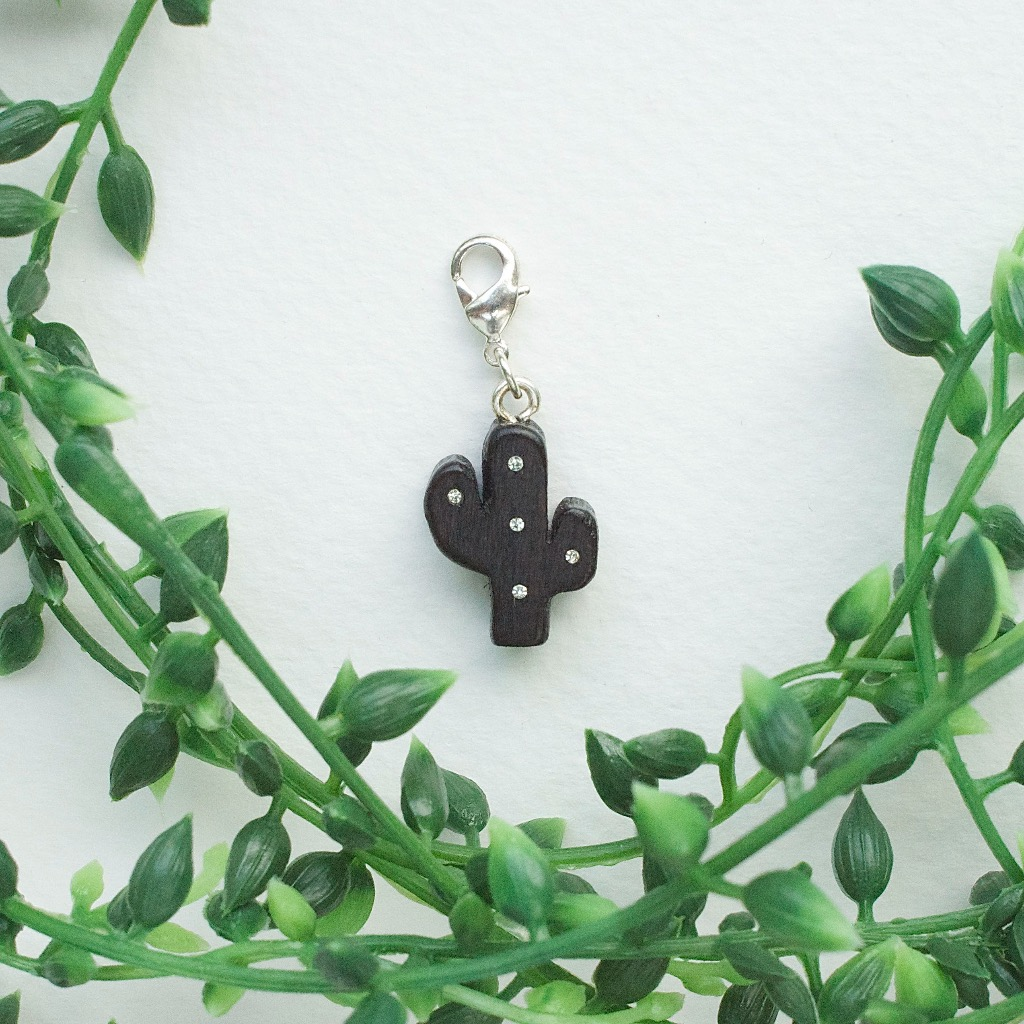 【Honeywood】木製吊飾 》》仙人掌。吊飾