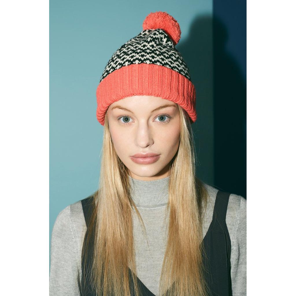 新品/英國 Miss PomPom / 幾何圖形毛帽