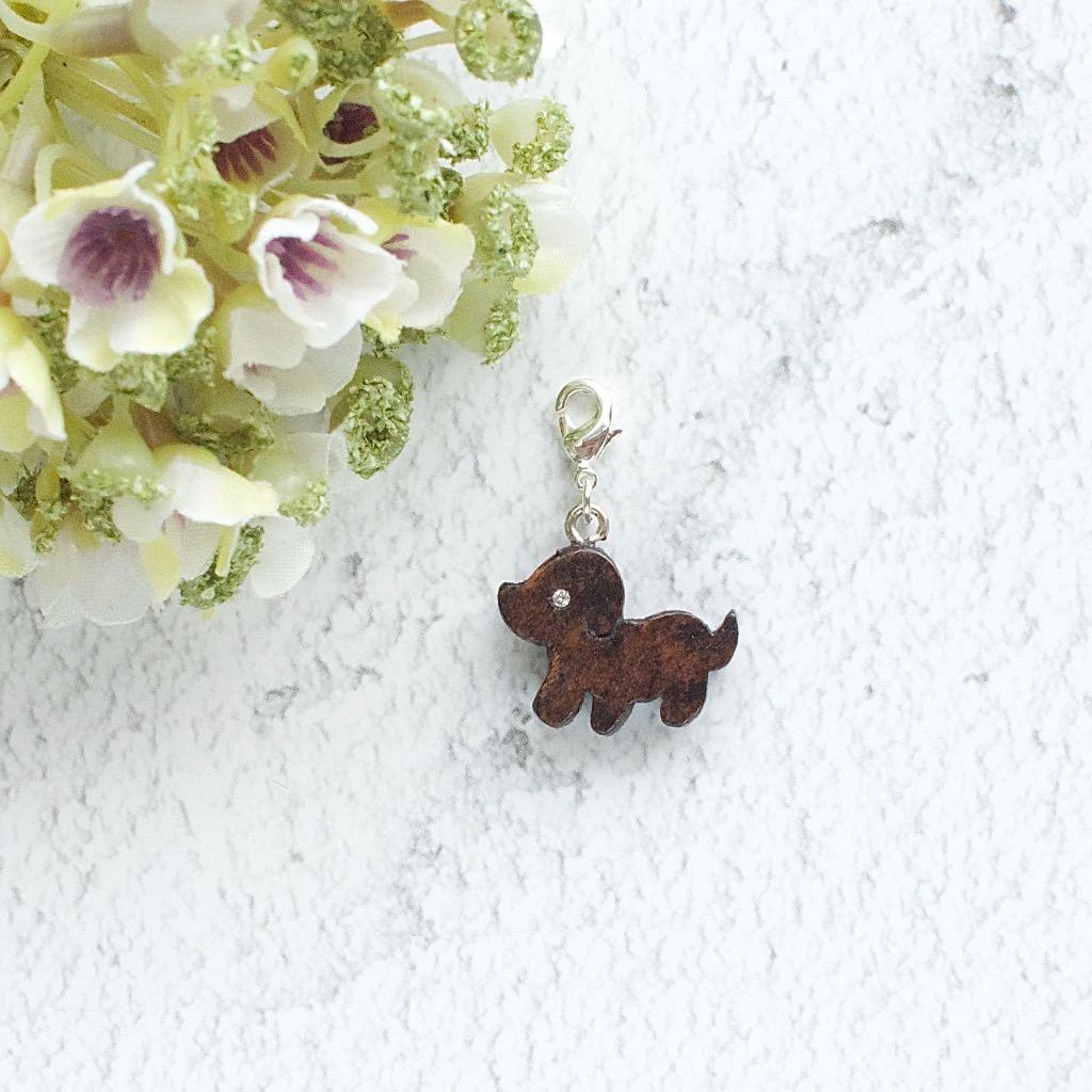【Honeywood】木製吊飾 》》小狗。吊飾