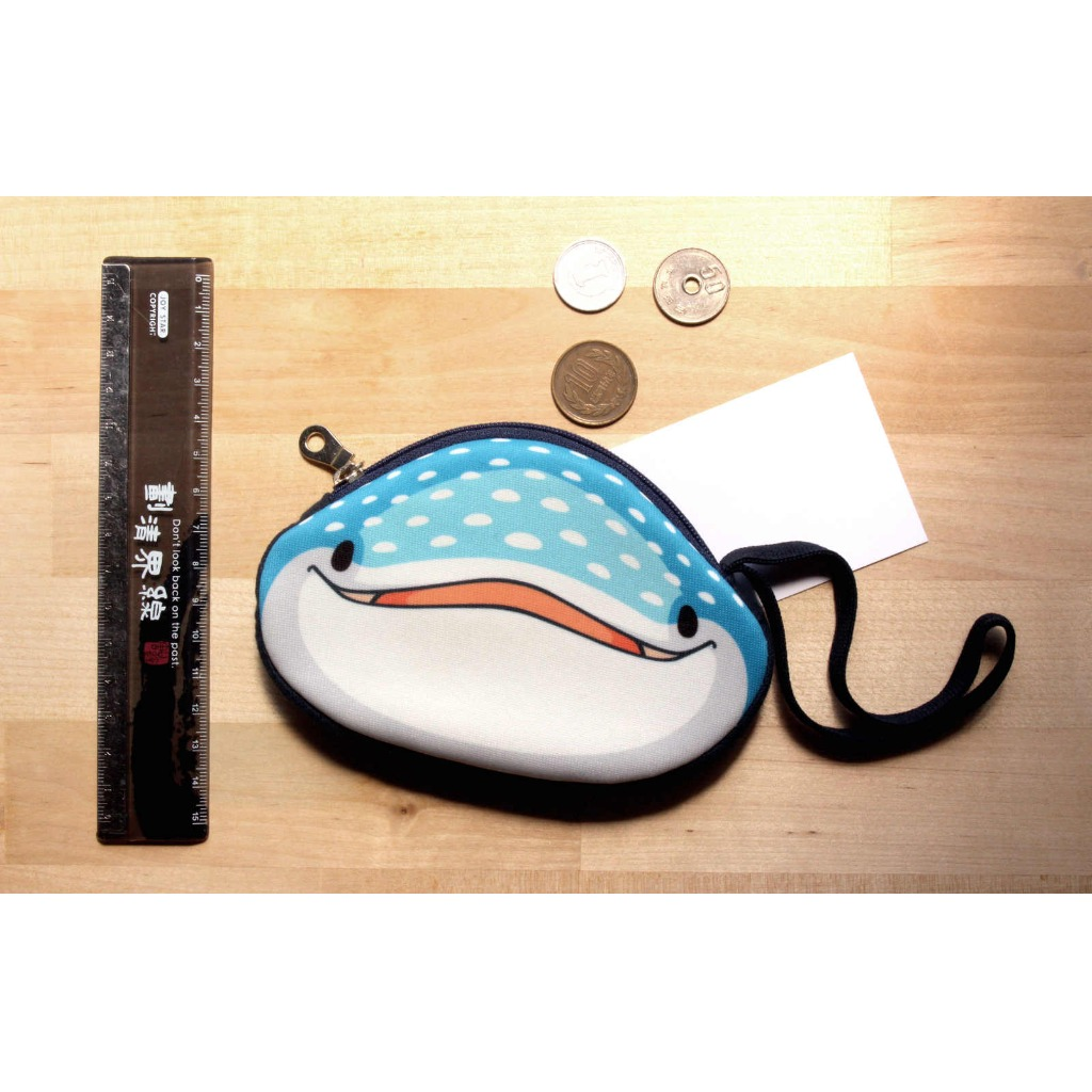 豆腐鯊(鯨鯊)點點 spot whale shark 點點大頭零錢包 ( 收納 / 零錢包 / 錢包 / 鯨鯊 / 鯊魚 )